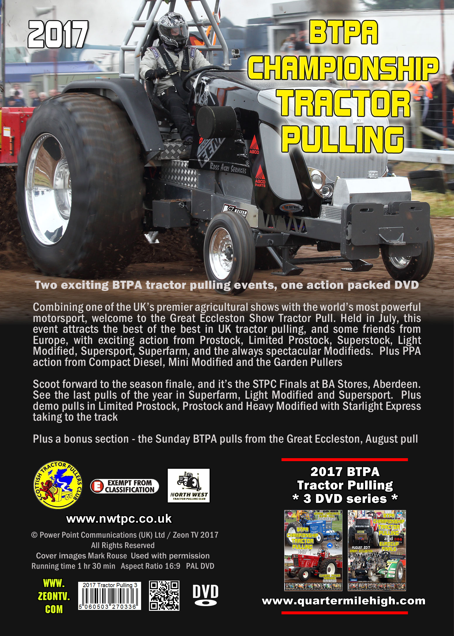 2017 Btpa Tractor Pulling Series Dvd Great Eccleston Show And Bs